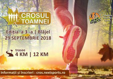 Participa la Crosul Toamnei – 29 Septembrie 2018